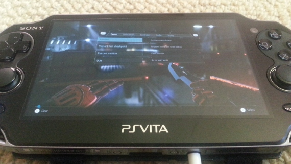 Killzone Shadow Fall on the Vita screen.